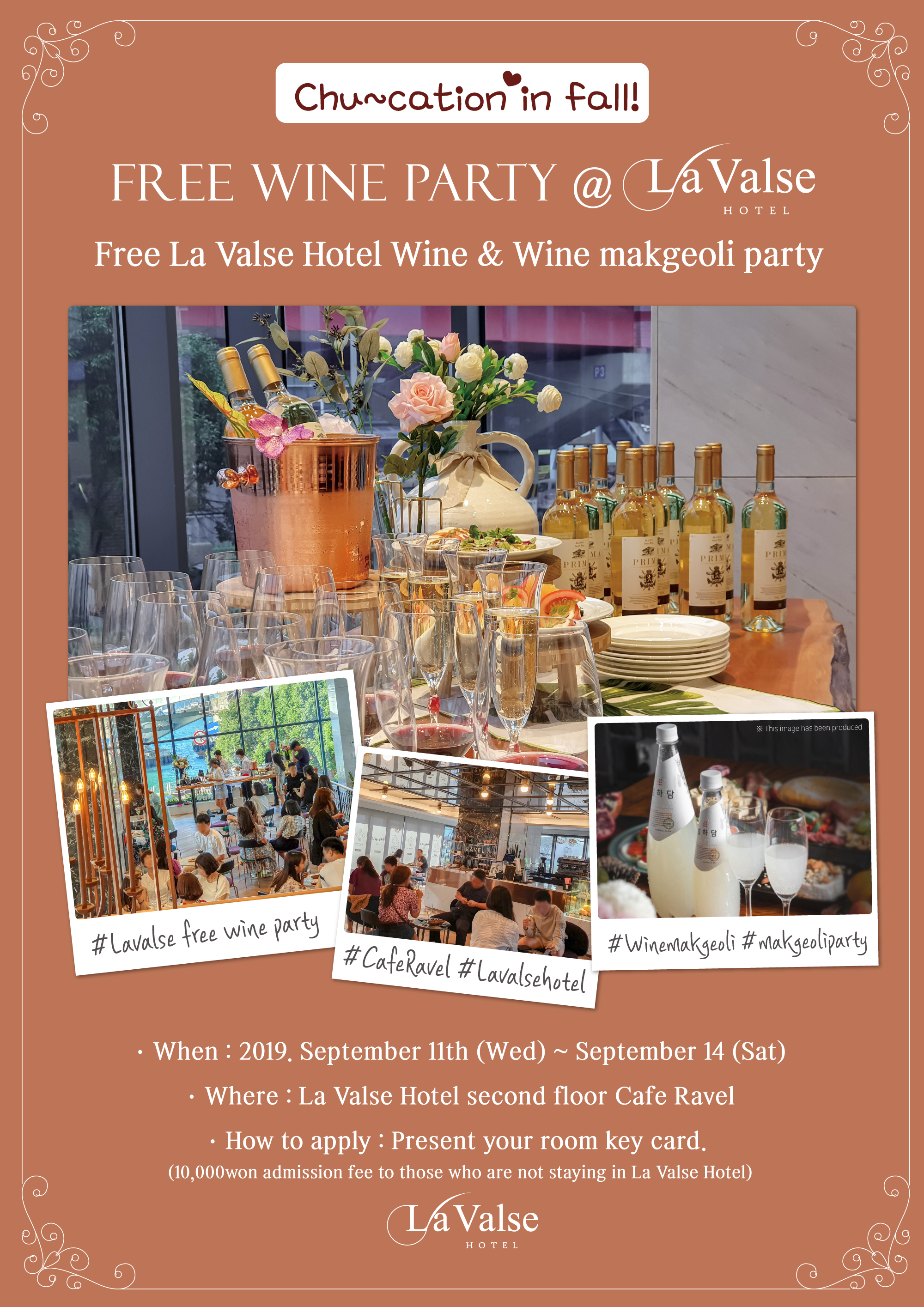 Free La Valse Hotel Wine & Wine makgeoli party